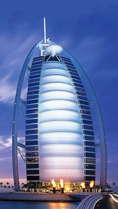 Amazing Architecture Around the World - Part 1 Pics), Burj Al Arab Hotel, Dubai, United Arab Emirates. I will always remember the jewelry stores in the Burj! Burj Al Arab, Unique Buildings, Amazing Buildings, Amazing Architecture, Dubai Hotel, Dubai Uae, Hotels And Resorts, Best Hotels, Luxury Hotels