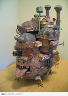 Howl's Moving Castle Papercraft - I wish I had talent to do stuff like this.