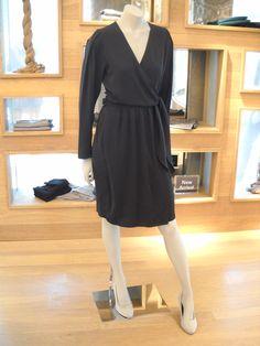 A Gorgeous Black Wrap Dress for Fall!