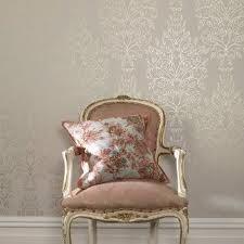 I LOVE the silver damask wallpaper! so cute!