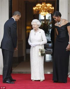 the Queen is greeted by then US President Barack Obama and first lady Michelle in 2011 Barack Obama Family, Obamas Family, Windsor, Prince George Alexander Louis, Mr President, Barack And Michelle, Save The Queen, Lady And Gentlemen, Queen Elizabeth