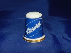 Kleenex Advertising Thimble/Kimberly Clark Advertising Premium - Porcelain