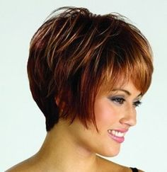 This wig is styled to sit neatly in the nape of the neck, it can be a form of short bob with long whispy sides and plenty of volume on top.
