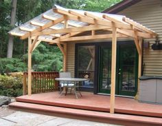 porch structure to bridge the gap between house and carport