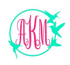 Feather Bird Monogram Vinyl Decal Custom Car Decal Personalized - Letter custom vinyl decals for car