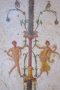 Roman Era Fresco (detail) Excavated from Villa Arianna at Pompeii. Ancient Rome, Ancient Art, Ancient History, Pompeii And Herculaneum, Roman Era, Décor Antique, Roman History, 1st Century, Chef D Oeuvre