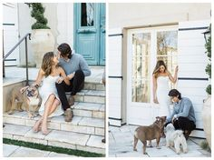 This Newport beach engagement session was so fun to photograph! Brittany and Mike are life lovers.  They travel , love festivals, love their dogs, and obviously keep a healthy diet and exercise routine.   I'll admit when I first walked up to their home in this private estate in Newport with a…