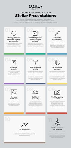 On the Creative Market Blog - The One Page Guide to Design Stellar Presentations