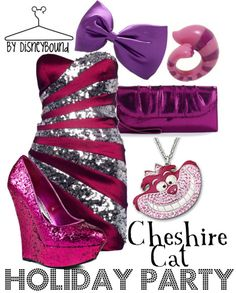 Chesire Cat by Disney Bound. Fashion Disney Outfit. Alice in wonderland. Holiday.