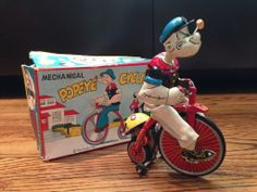Very nice and clean vintage Popeye tricycle. From ebay.