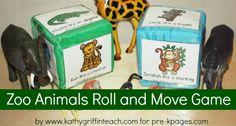 A fun movement game for a zoo theme for preschool, pre-k, or kindergarten
