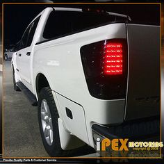NEW For ALL 2004-2014 Nissan Titan BRIGHTEST LED Tail Lights Brake Lamps Smoke