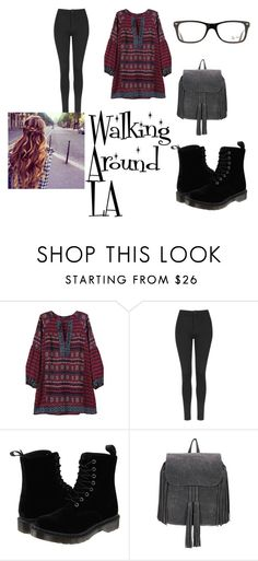 """""""Walking Around L.A"""" by cassie5sos on Polyvore featuring Topshop, Dr. Martens and Ray-Ban"""