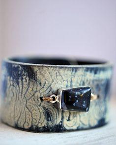 Belt Bracelet Leather Bracelet Jasper Jewelry Boho by HANKandANNIE