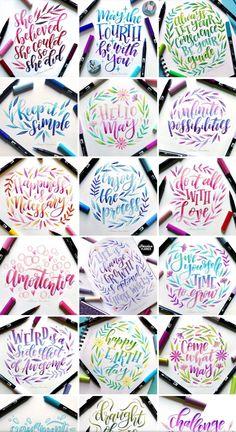 Cute Qoutes, Hand Lettering Alphabet, Cartoon Sketches, Letter Art, Calligraphy Art, Brush Pen, Happy Planner, Journal Ideas, Pens
