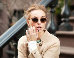 PulledBack   her shades..