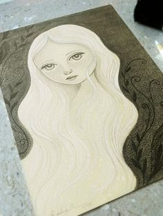 Original Pencil Drawing Willow by Amalia K by TheWishForest, $70.00
