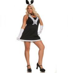 Black Tie Bunny Plus Size Costume - womensplussizecostumes.org