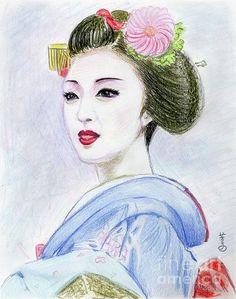 Artist is Yoshiko Mishina again drawn by coloured pencils. Beautiful.