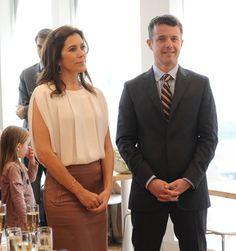 Princess Mary Photos - HRH Crown Prince Frederik & Princess Mary Of Denmark Visit Adam Aamanns Restaurant - Zimbio
