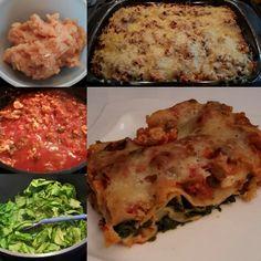 Lasagne mit Hühnerfilet und Spinat