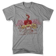 "T-Shirt men ""love flame"" FARBAUSWAHL! von MAD IN BERLIN auf DaWanda.com"