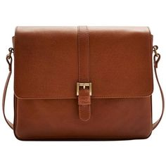 Women's Joules Padstow Leather Cross Body Bag - Dark Tan (€180) ❤ liked on Polyvore featuring bags, handbags, shoulder bags, leather shoulder bag, brown leather shoulder bag, crossbody handbags, tan leather purse and brown leather purse