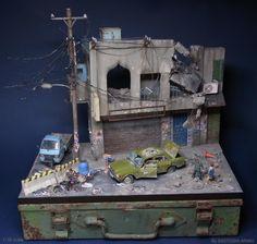 Unreal Miniature Dioramas of Batmobile, Urban Decay   Make: