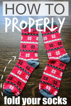 There's a right way to fold your socks to keep them tidy and organized in your drawer!... And it's not what you've been doing for all of these years!