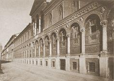 Ospedale Maggiore, ala sforzesca, foto del 1866 di Icilio Calzolari   da Milàn l'era inscì