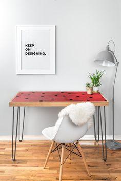 Georgiana Paraschiv Flamenco Dots Desk   DENY Designs Home Accessories