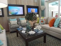 Living Room of the HGTV Smart House in Jacksonville, Florida.