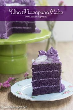 Here's a great recipe for the classic Ube Macapuno Cake. Light, fluffy with an good ube flavor in every bite.
