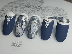 Nails winter design shops Ideas - New Site Winter Nail Designs, Winter Nail Art, Christmas Nail Designs, Christmas Nail Art, Cool Nail Designs, Winter Nails, Gorgeous Nails, Love Nails, Fun Nails