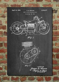 Ford Internal Combustion Engine Poster, Car Part Art, Tank Engine, Ford Motor, Henry Ford Drive Poster, Henry Ford, Ford Motor, Framed Prints, Canvas Prints, Art Prints, Car Part Art, Tube Carton, Teen Room Decor