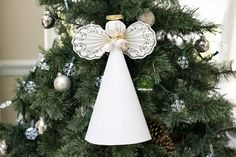 How to Make a Paper Angel for a Christmas Tree Top                                                                                                                                                                                 More