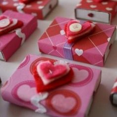 Cute little matchboxes of Valentine's  Day