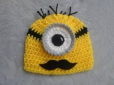 Mustache Minion Hat by YarnCreationsGalore on Etsy, $18.00