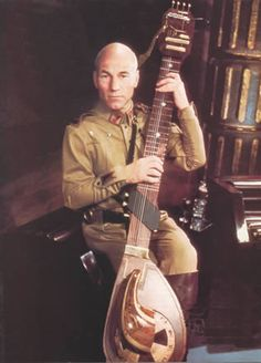 Vintage Geek Culture — Patrick Stewart with his balimset. Dune Film, Dune Book, Good Meaning, Frank Herbert, Classic Sci Fi, Movie Facts, Pulsar, Science Fiction Art, First Novel