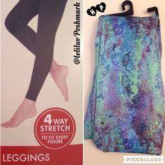 """🎉HP🎉 Space dye stretchy footless leggings NWT, spacedye watercolor print. Seamless leggings with elasticized band waist and hem. Footless; see picture showing fit. ✅ Thin spandex material (96% polyester, 4% spandex). Please see size chart, I'd recommend purchasing one size up as these run a little small. ✅ Please base your size option on the brand's size chart. ✅ I'll be happy to answer question or measure it for you. ✅ Available in S/M (1) and M/L (1). 🎉""""Work Week Chick"""" Host Pick…"""