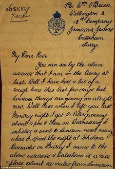 WW1 Letters/Diaries. | WW 1 | Pinterest