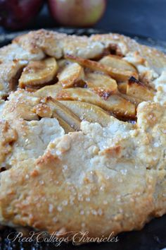 This rustic caramel apple tart is both easy and delicious