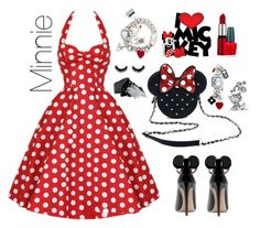 """Minnie"" by jomprs on Polyvore featuring Loungefly, Disney, OPI and Gorgeous Cosmetics"