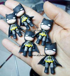 1batman inspired super hero ooak necklace made by AlchemianShop, €25.00