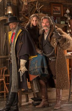 historyofcinema Jennifer Jason Leigh with Samuel L. Jackson and Kurt Russell behind the scene of Tarantino's 'The Hateful Eight' is Jennifer's birthday! Quentin Tarantino Interview, Quentin Tarantino Films, The Hateful Eight, Reservoir Dogs, Westerns, Pulp Fiction, Jennifer Jason Leigh, Movie Stars, Movie Tv