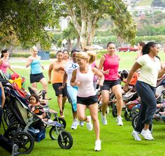 fitness for mom!! How awesome this would be if we had a group in lot to do this with!!!