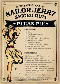 Image result for sailor.jerry pecan pie
