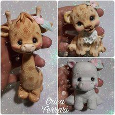 Clay Figurine, Pasta Flexible, Sugar Art, Cute Creatures, Sweet Cakes, Coffee Art, Cold Porcelain, Clay Projects, Ferrari