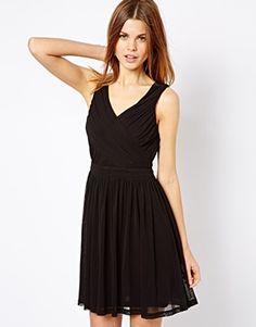 3fc30db85409 A Wear Pleated Wrap Dress - Black