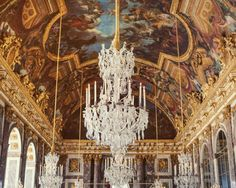 Versailles Chandelier Print Paris by EyePoetryPhotography on Etsy